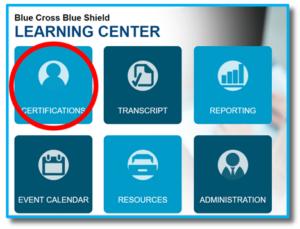 Learning Center screen shot
